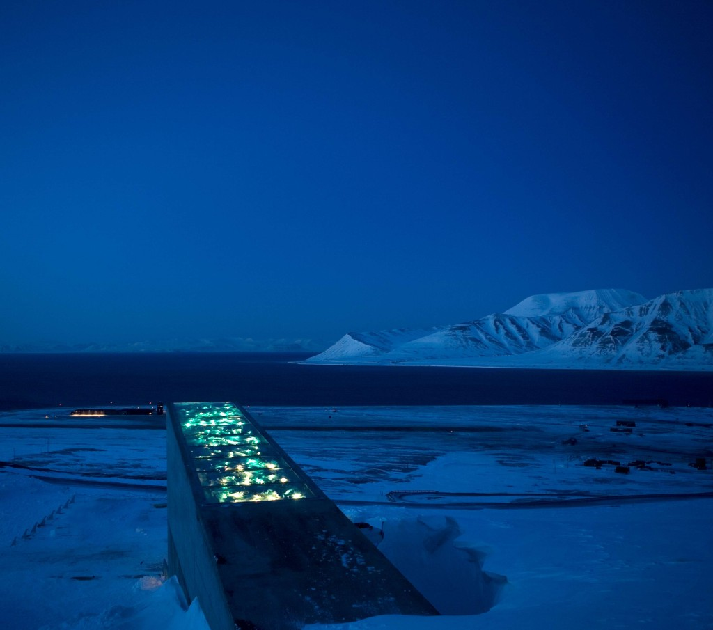 Svalbard globale frøhvelv. Foto: Koro.no.