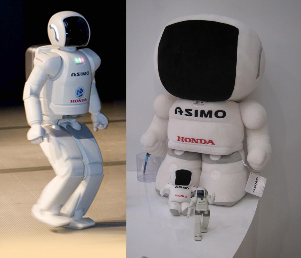 HARD OG MYK: Asimo som robot og kosedyr.