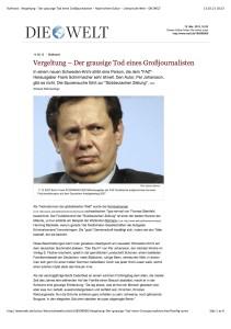Die Welt, 14.8.2012: «Rufmord»
