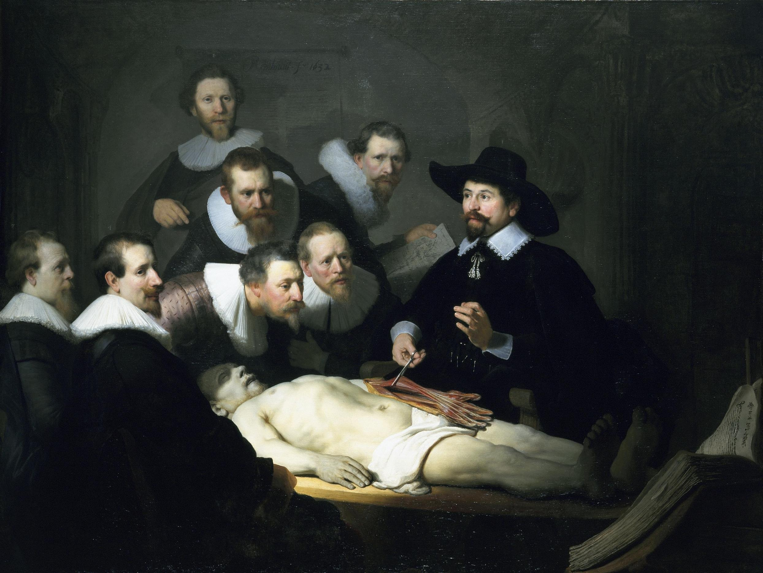 Rembrandt: Dr. Tulps anatomiforelesning  (1632)
