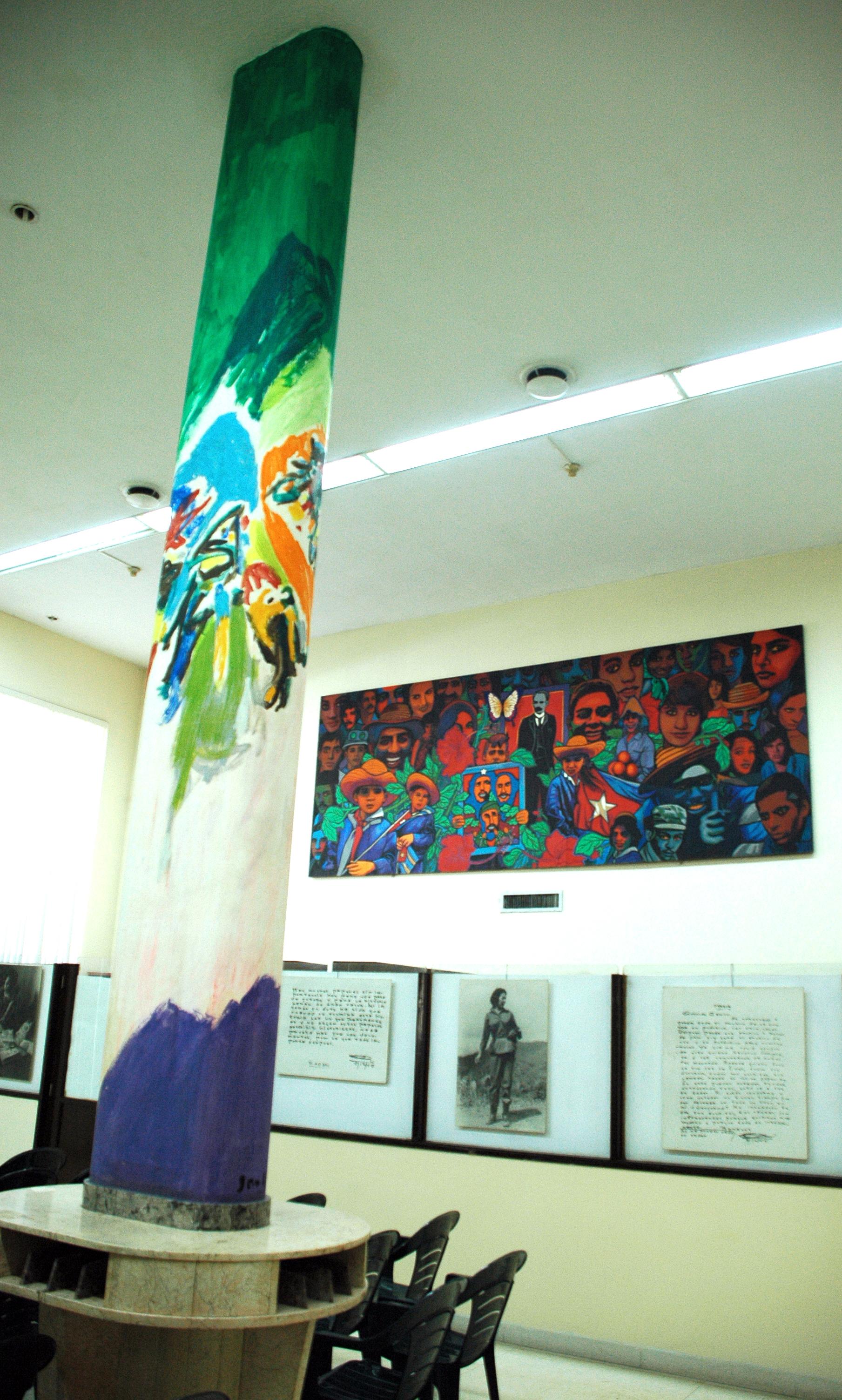 murales de Asger Jorn en Cuba en el edificio del Archivo del Consejo de Estado fotos KALOIAN (1)