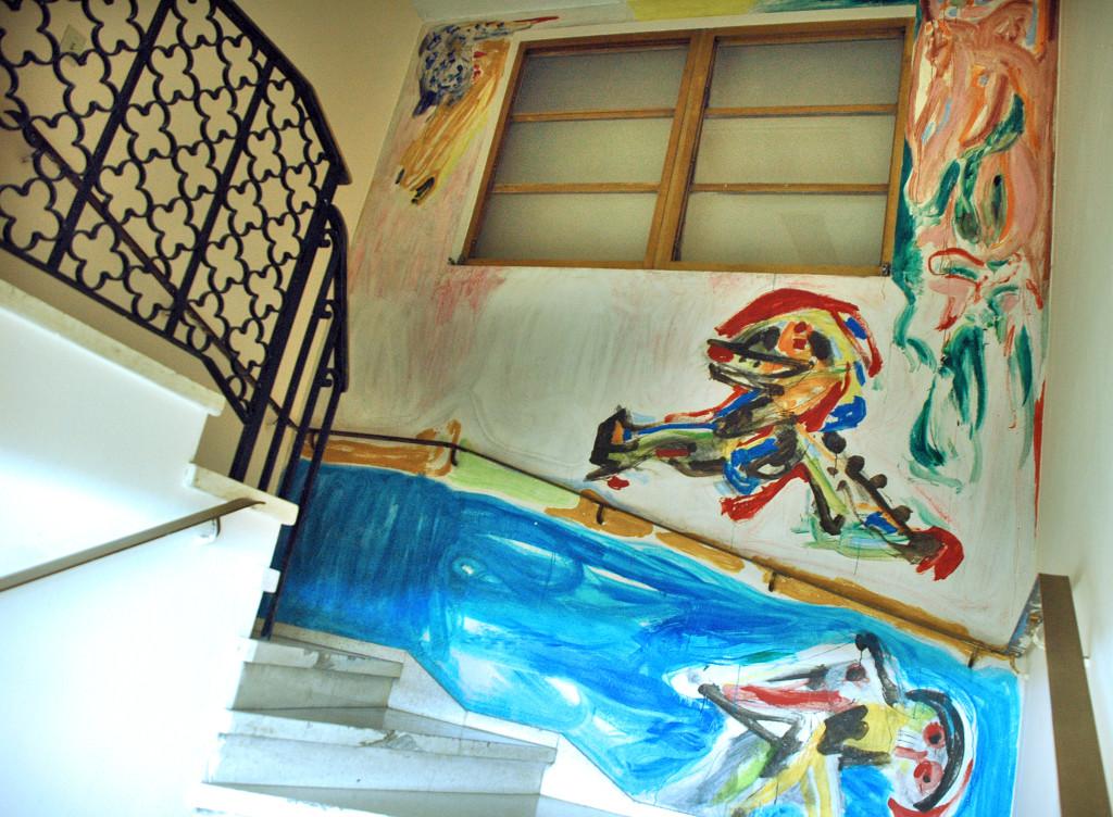 murales de Asger Jorn en Cuba en el edificio del Archivo del Consejo de Estado fotos KALOIAN (12)