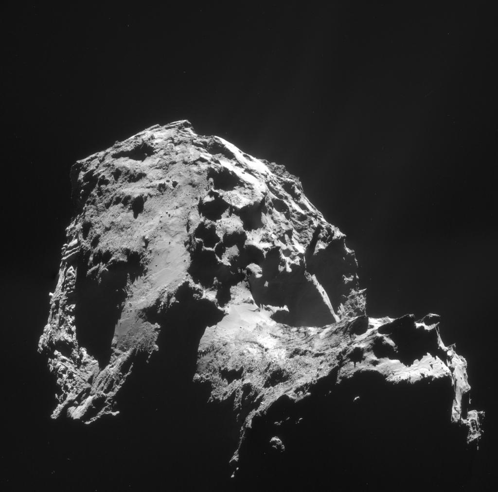 Bilde av kometen 67P/Churyumov-Gerasimenko tatt 1. januar, 2015 av Rosetta. Copyright: Creative Commons. Kilde: ESA