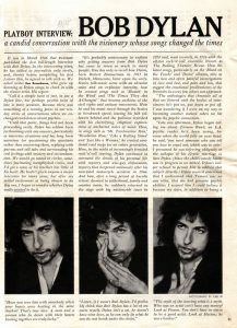 Boby Dylan i Playboy, januar 1978.