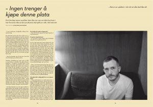Intervju med Kim Hiorthøy. Faksimile fra Eno #17.