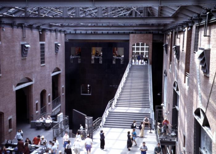 The Museum's Hall of Witness, US Holocaust Memorial Museum.