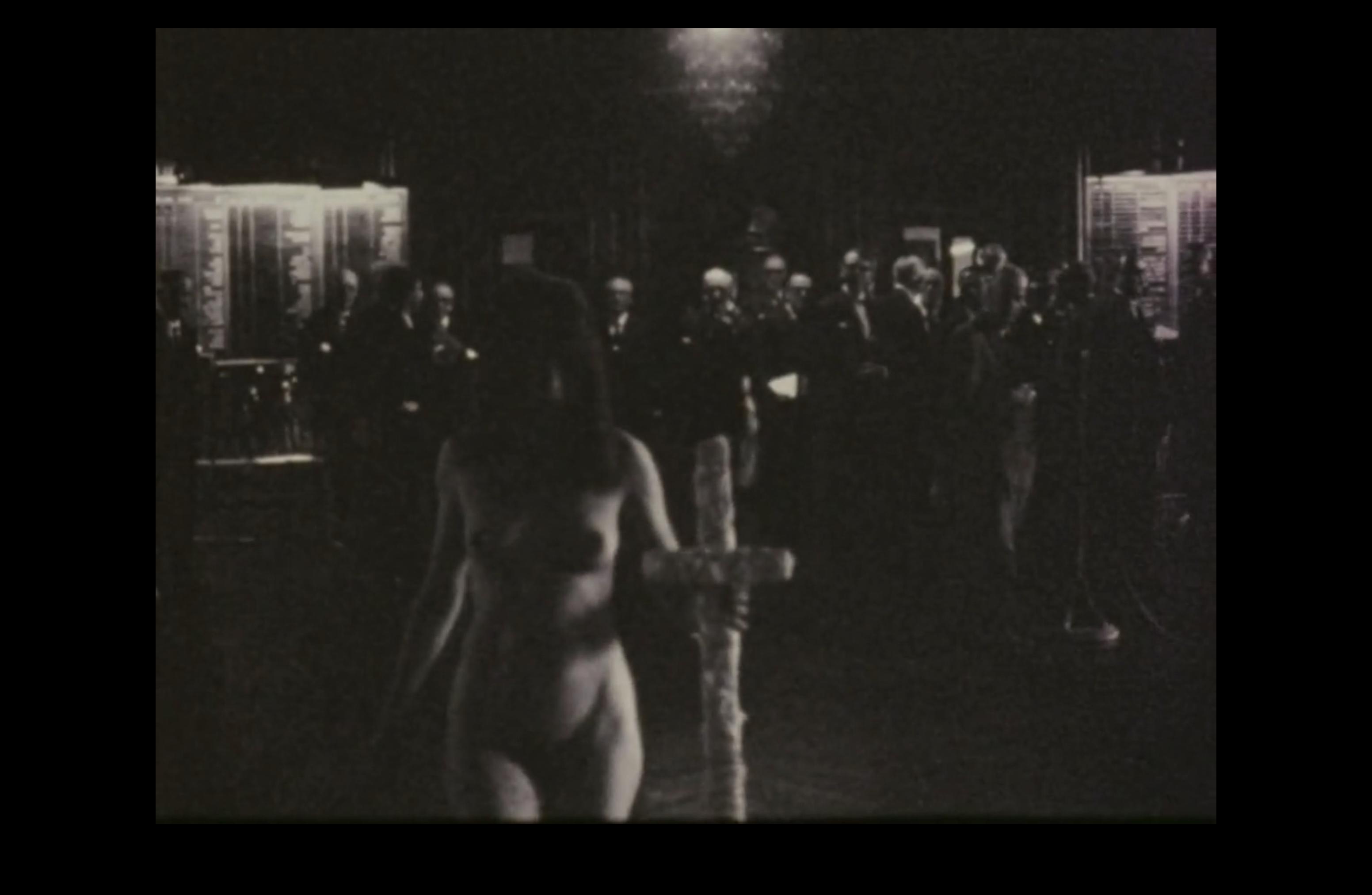 Stillbilde fra Børsaktionen (1969).
