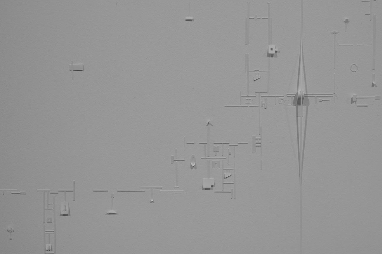 Uruguays paviljong. Marco Maggi, Global Myopia II (Pencil & Paper), detalj ur installation. Foto: Jessica Blom.