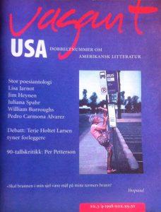 Vagant 3-4/1998. I forordet til Hjemmelekser skriver Carmona-Alvarez: Det lille stykket om Leonard Cohen, som jeg har revidert (uten at dette har klart å  erne den nervøse, pliktoppfyllende tonen), var den aller første teksten jeg skrev som ikke var poesi eller poetisert prosa. Den ble skrevet til Vagants Amerika-nummer, og jeg mener å huske at det var Espen Stueland som sendte forespørselen. Den allerede nevnte nervøse og plikt- oppfyllende tonen – oppdaget jeg under revideringsarbeidet – skyldes helt og holdent ærefrykt, intet annet.