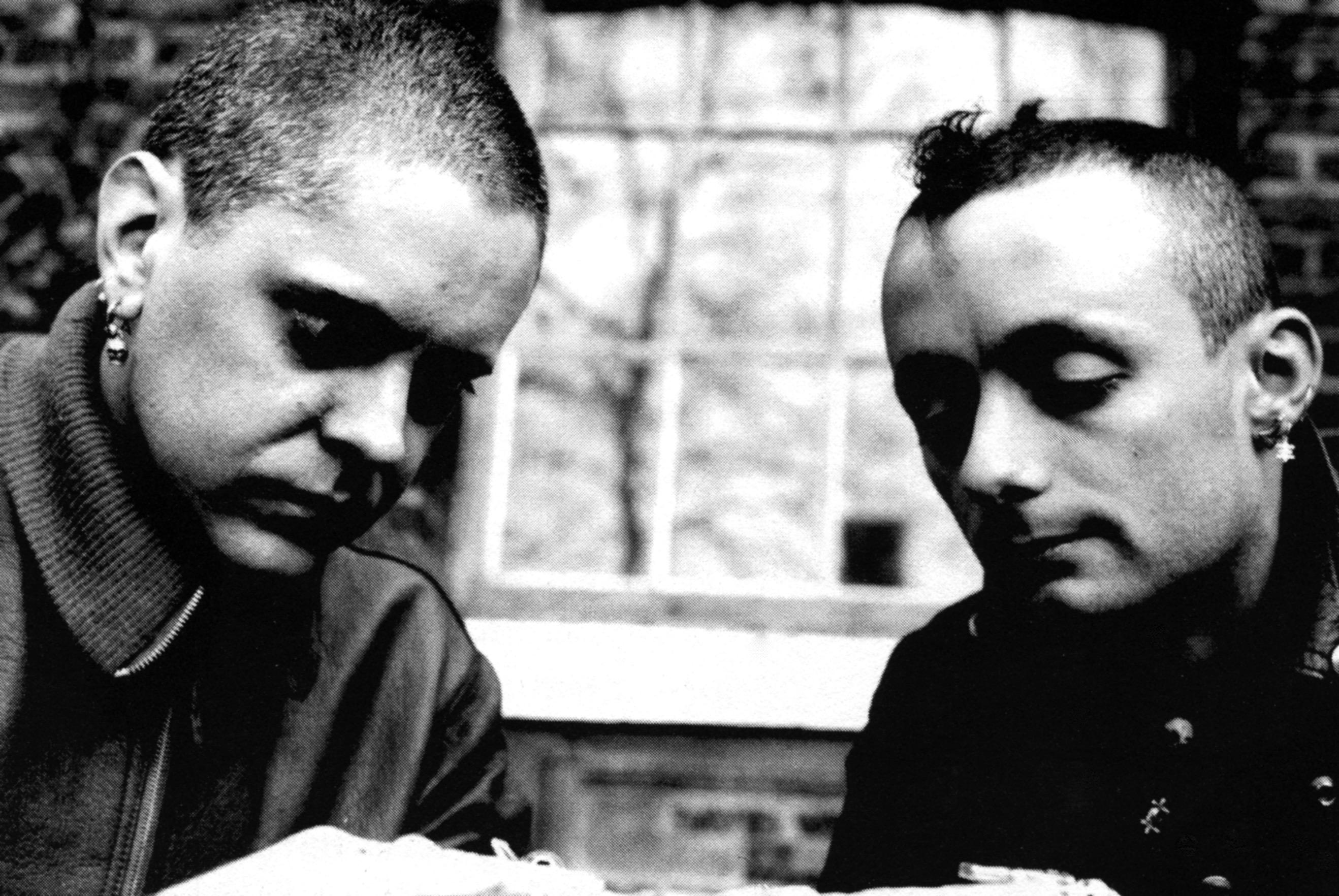 Genesis P-Orridge og David Tibet i 1982. Photo: Courtesy Genesis P-Orridge.